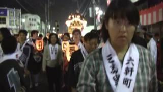 川越祭り六軒町三番叟その8:夜の町中(2)