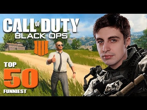 COD BETTER THAN PUBG? - TOP 50 FUNNIEST MOMENTS IN CoD BLACK OPS 4