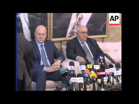Lebanese PM meets Syrian leaders, news conference
