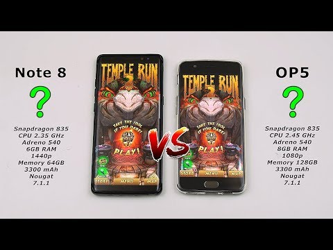 Samsung Note 8 vs OnePlus 5 Speed Test! (will my daily driver Note 8 have a chance?) [4K]