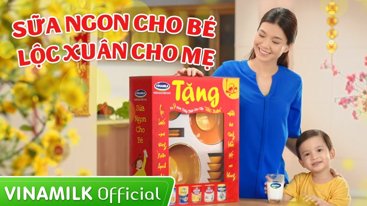 Quảng cáo Vinamilk – Khuyến mại Tết 2016 – Sữa ngon cho bé, Lộc xuân cho mẹ