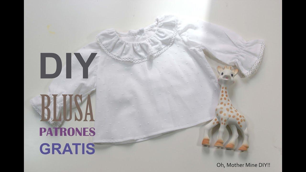 DIY Como hacer blusa para bebe patrones gratis - YouTube