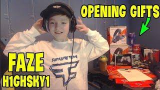 NEW FAZE H1GHSKY1 (Opening Gifts from FAZE) | GodLike Fortnite