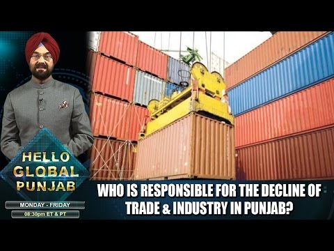 Who is responsible for the decline of trade & industry in Punjab?