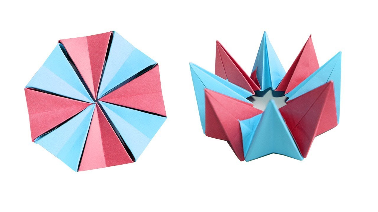 Paper For Making An Origami Fireworks Flower