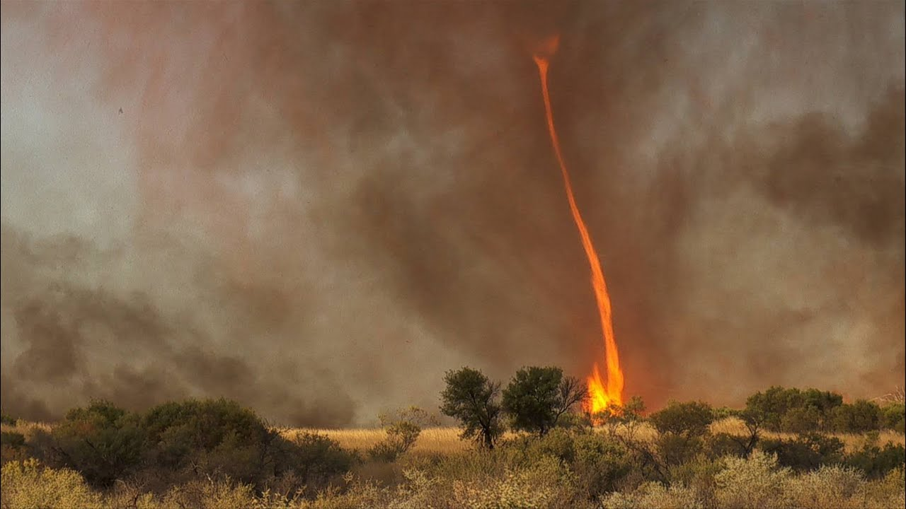 Fire Tornado Australia HD Clearest Ever Capture In Nature YouTube - This slow motion fire tornado is the coolest thing youll see all day