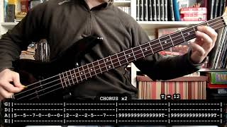 BARON ROJO - Resistiré (bass cover w/ Tabs) [full HD]