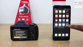 Canon SX 540 WIFI setting and Function.