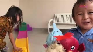 Zara Sewa Mainan Anak 2 step Roller Coaster for Kids | Lets Play | Playground di Rumah