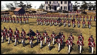 BRITISH 1812 LINE BATTALION! US Infantry Defend River Crossings - Men of War BITFA Mod Gameplay