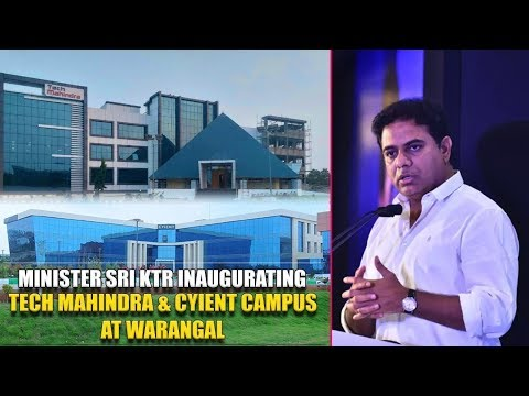 Minister KTR inaugurating Tech Mahindra & Cyient Campus at Warangal | TVNXT Telugu
