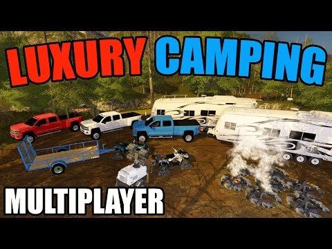 FARMING SIMULATOR 2017   LUXURY CAMPING   MULTIPLAYER   NEW CHEVY 3500!