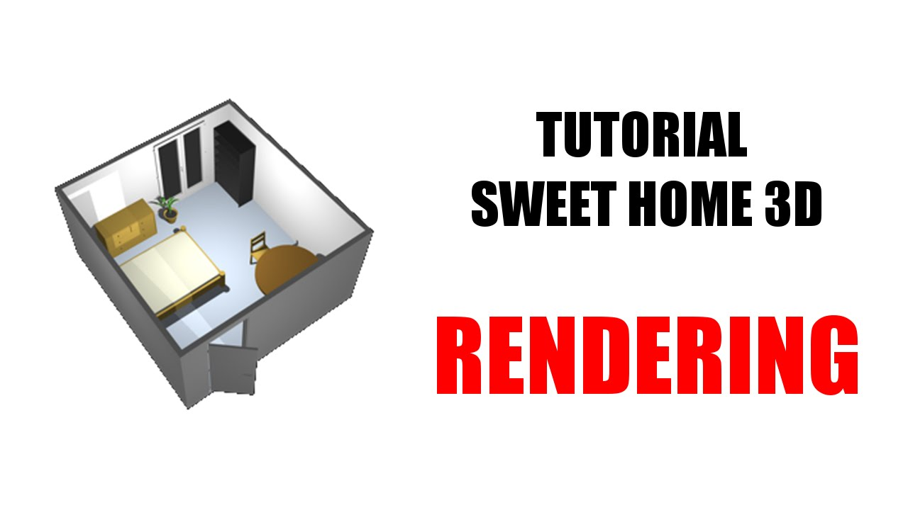 rendering sweet home 3d youtube. Black Bedroom Furniture Sets. Home Design Ideas