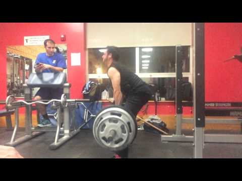 350x1 Sumo post squats and deadlift training