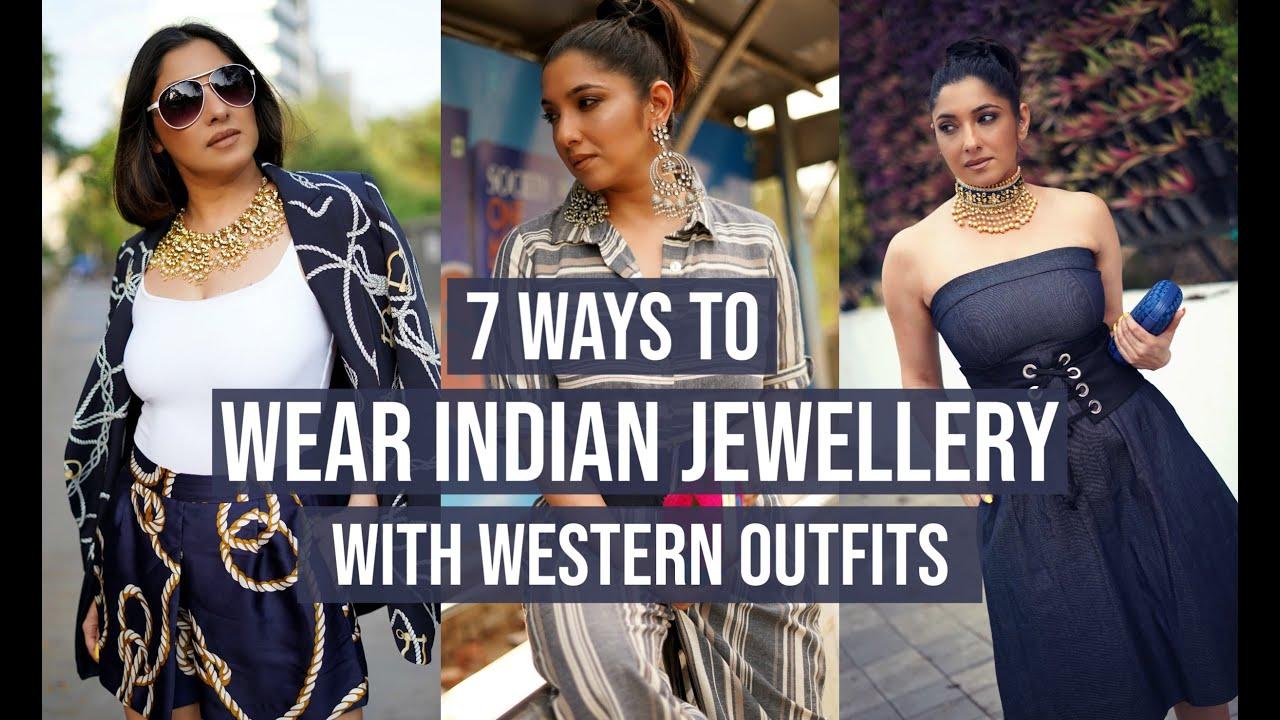 Indian Ornaments On Western Clothing-Telugu Fashion News