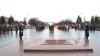 Церемония возложения венков к памятнику Победы в Минске