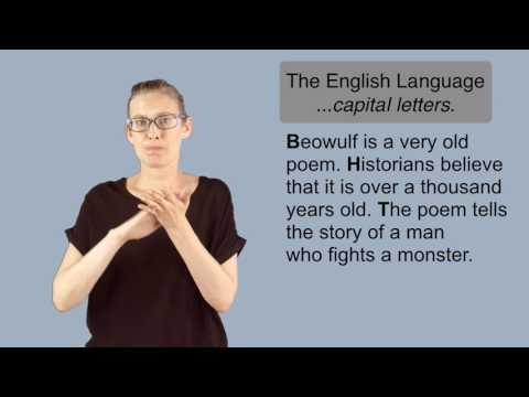 English Language Video Capital Letters