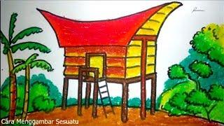 Cara Menggambar Rumah Adat Tongkonan Tana Toraja Sulawesi Youtube