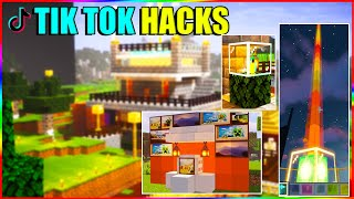 Trying Minecraft tiktok hacks | techno gamerz minecraft picture , automatic furnance etc.