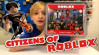 CITIZENS OF ROBLOX/ Hard Times Henry/ Unboxing more #Robloxtoys and the code item for #roblox