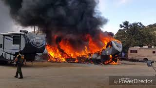 RV fires - 6 minutes to total destruction!
