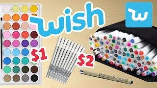 CHEAP vs EXPENSIVE ART SUPPLIES || Wish Haul!