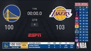 Warriors @ Lakers | #StateFarmPlayIn ESPN Live Scoreboard