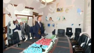 İlham Aliyev opens new administrative building of YAP`s Agjabadi District Branch