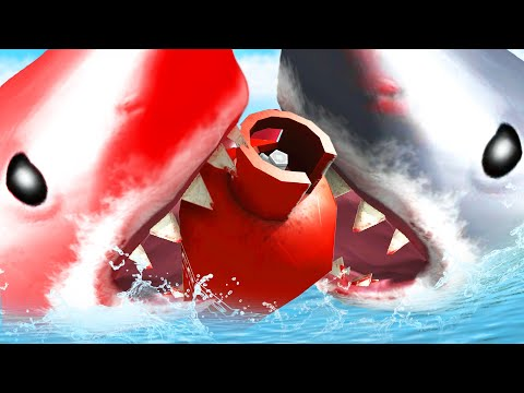MEGALODON vs RED MEGALODON! - Amazing Frog - Part 145 | Pungence