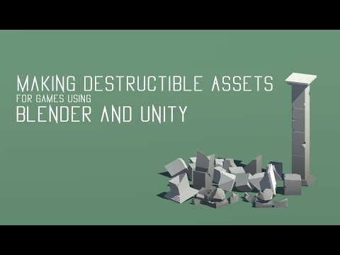Making destructible video game assets | Blender and Unity tutorial