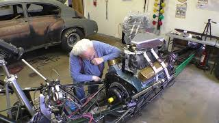 Part 1 Of installing the transmission into the Front Engine Dragster