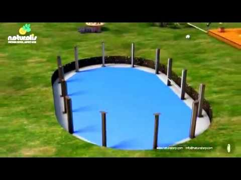 Piscine b ton imitation bois naturalis youtube for Piscine enterrable