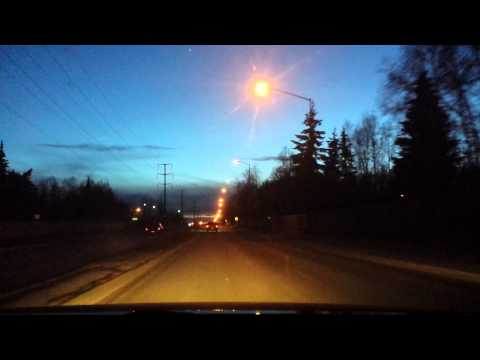 Drunk Driver caught on Dashcam in Anchorage Alaska 3.30.15