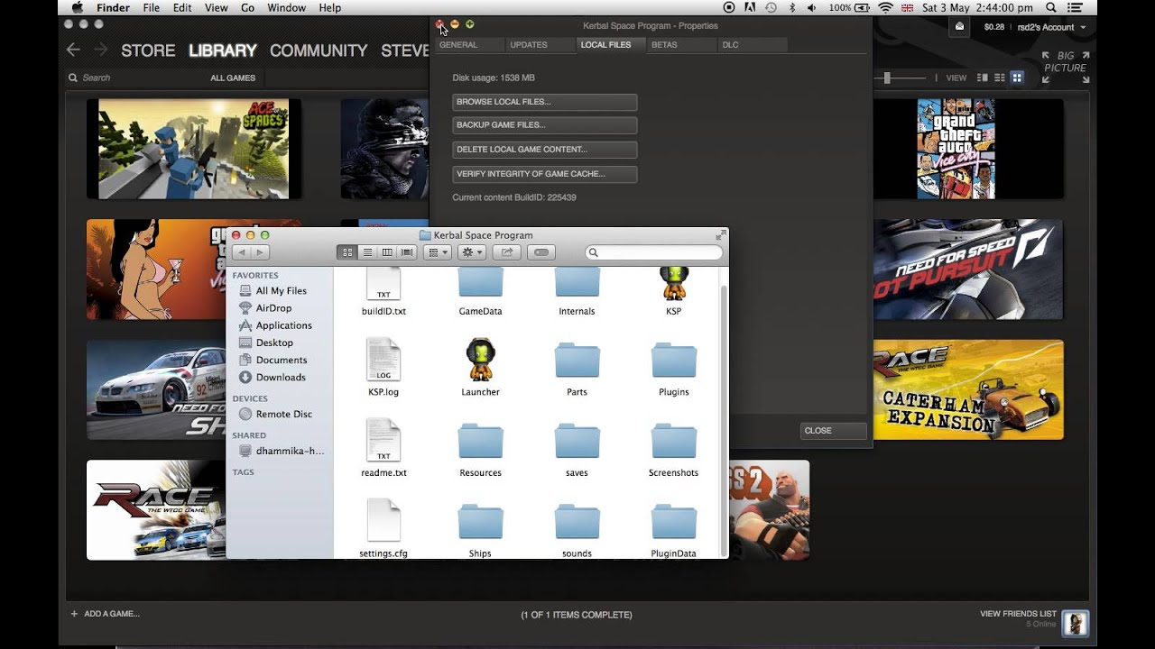 How to install mods for Kerbal Space Program on Steam, mac ...
