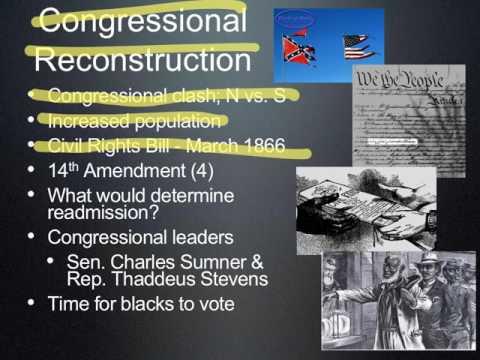 Reconstruction Slide 3 Congressional Reconstruction