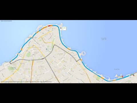 City Drive : Driving down the Gulf Road from Kuwait City