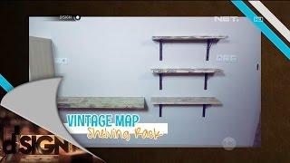 DIY: Vintage Map Shelving Rack - dSIGN