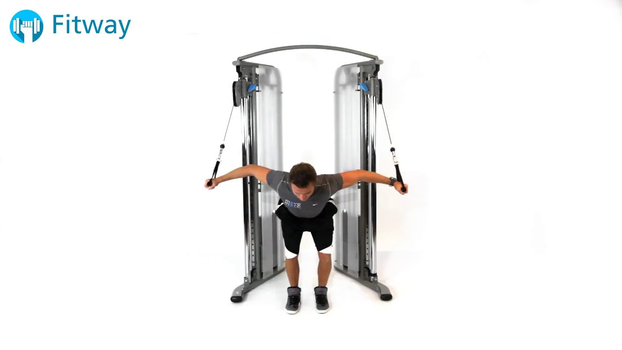 chair exercises on cable tv espresso dining chairs how to do crossover bent over chest workout