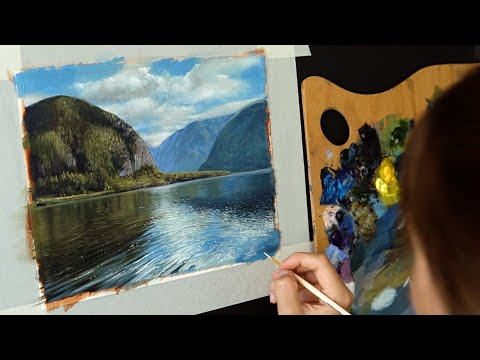 Масляная живопись для начинающих. Рисуем пейзаж  #6 Oil painting art tutorial thumbnail
