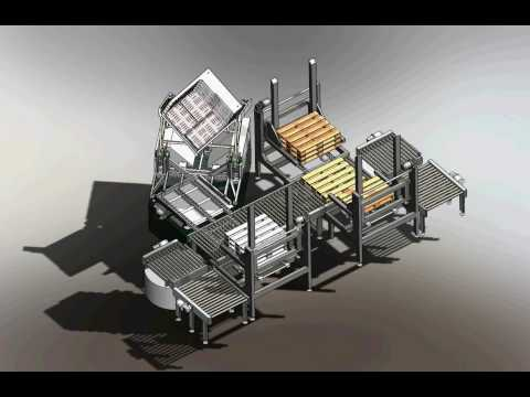Toppy V Shape Pallet Exchanger - Logistics - CAD Animation