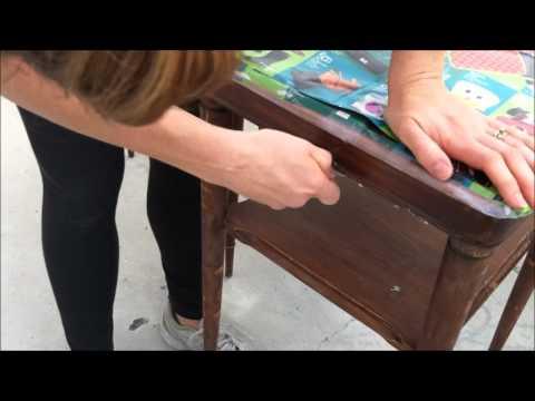Farmhouse Style Furniture Painting Technique