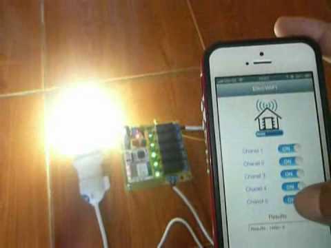 ควบคุมอุปกรณ์ไฟฟ้าผ่าน Wifi Module ด้วย Iphone Youtube