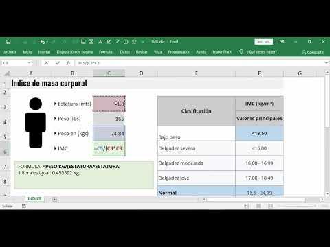 Calcular en Indice de masa corporal (IMC) en Excelиз YouTube · Длительность: 3 мин17 с