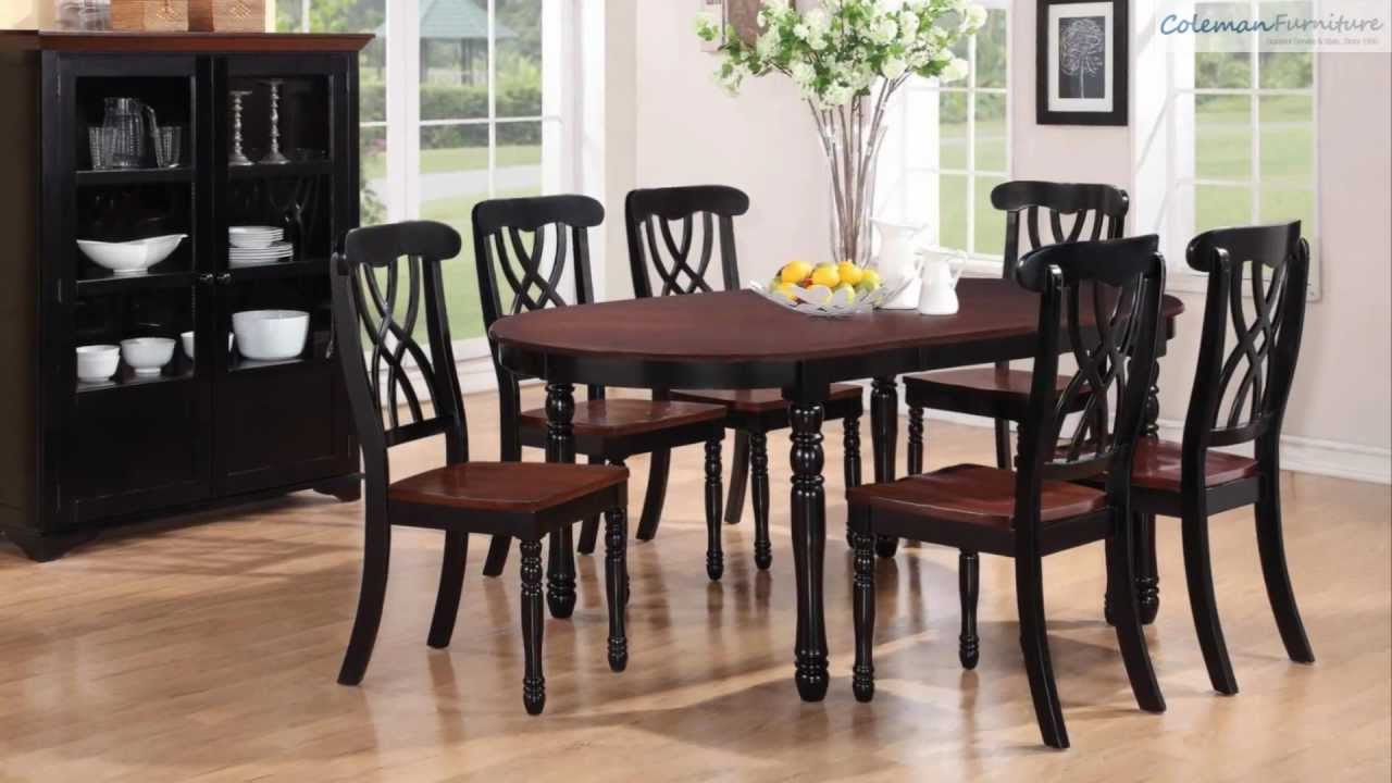 Addison black cherry rectangular dining room collection for Dining room tables you tube