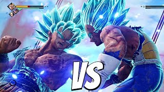 JUMP FORCE - Goku SSB Kaioken vs Vegeta SSB 1vs1 Gameplay (PS4 Pro)