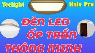 Đèn LED ốp trần thông minh Yeelight Halo Pro YLXD49YL 100W - Khung Kim Loại Vàng, Đèn Hắt 65k Màu