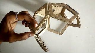 Easy Diy Diwali lanter || pendant hanging lamp || Make a 3D pentagonal hanging lanthern