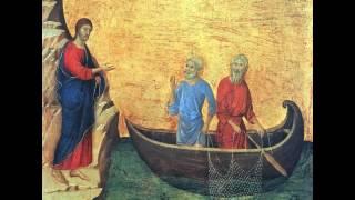ぺろりんぐ美術館 ドゥッチョ  『ペテロとアンデレの召命』 1308-11 |51x 53,5 cm |ドゥオモ美術館、シエナ、イタリア