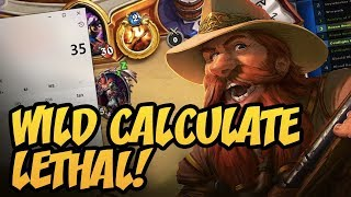 Wild Calculate Lethal! | Rise of Shadows | Hearthstone