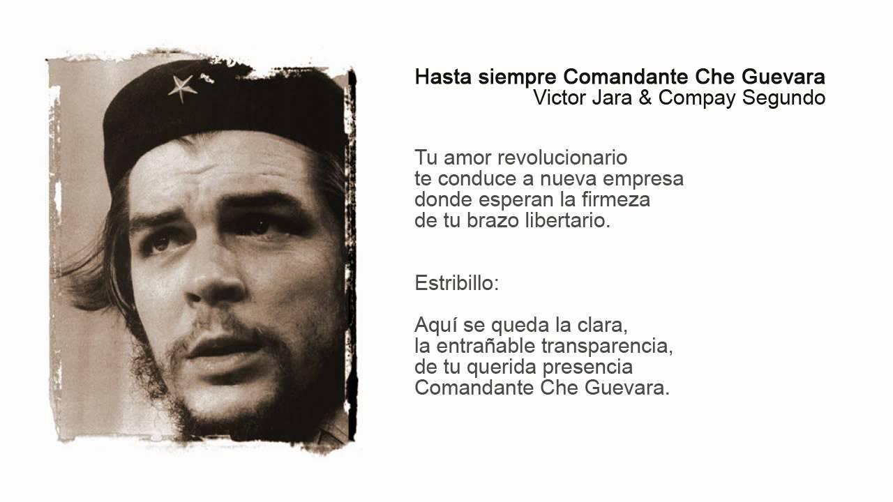 Hasta Siempre Comandante Che Guevara - YouTube